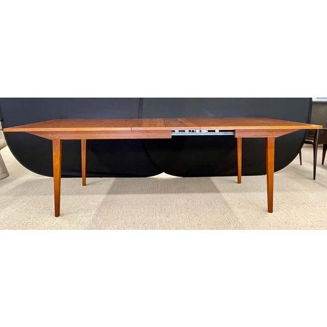 Mid-Century Modern George Nelson Herman Miller Dining Table, Mid-Century Modern Teak Wood For Sale - Image 3 of 13