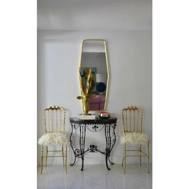 Mid-Century Brass Side Chairs - a Pair For Sale In West Palm - Image 6 of 13
