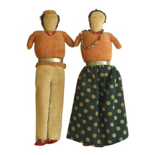 Vintage Navajo Style Dolls - A Pair For Sale