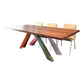Bonaldo Walnut Veneer Dining Room Table