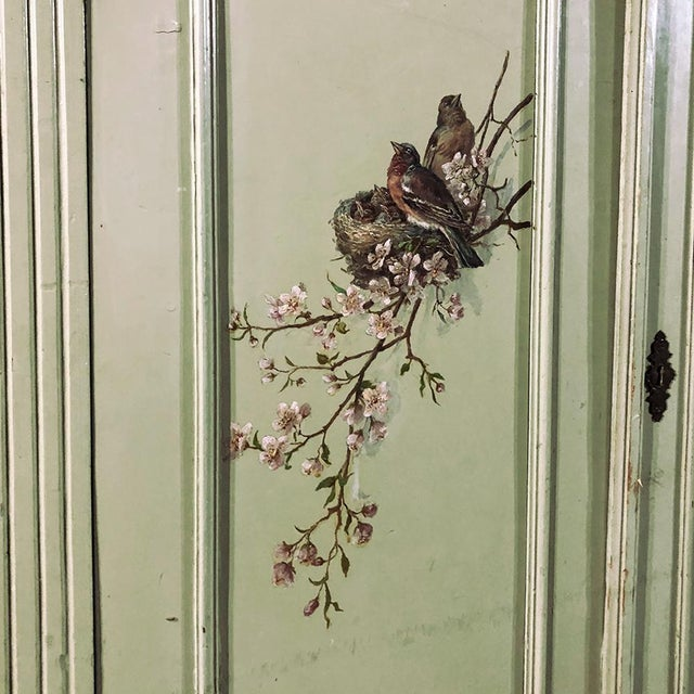 Antique Belle Epoque Painted Cabinet For Sale - Image 10 of 13