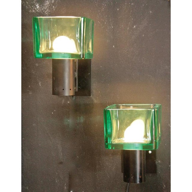 Seguso 1960s Chiseled Italian Sconces For Sale In Los Angeles - Image 6 of 7