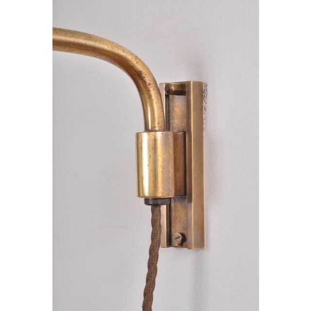 Amba Swing-Arm Wall Lamp, Switzerland, 1940s For Sale - Image 10 of 12