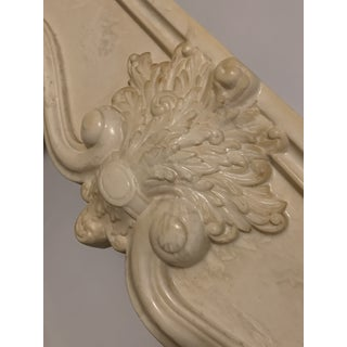 French Antique White Marble Fireplace Surround Mantel Preview