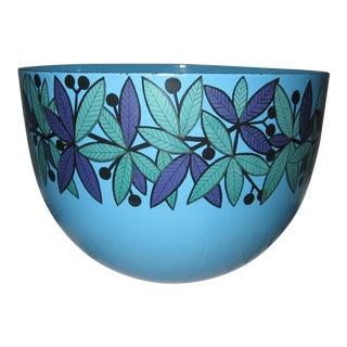 Finel Kaj Franck Blue Lehva Lehti Leaf Metal Enamel Bowl For Sale