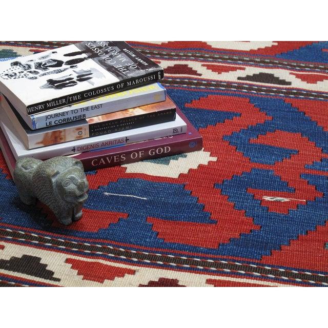 """Textile """"Primary Colors,"""" Antique Kazak Kilim For Sale - Image 7 of 10"""