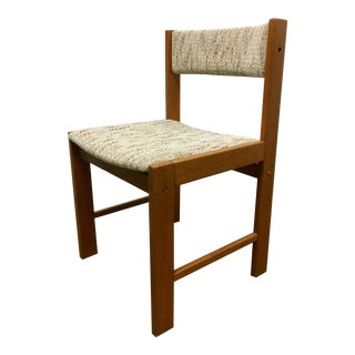 Danish Mid-Century Modern Teak Wood D Scan Upholstered Dining Chair