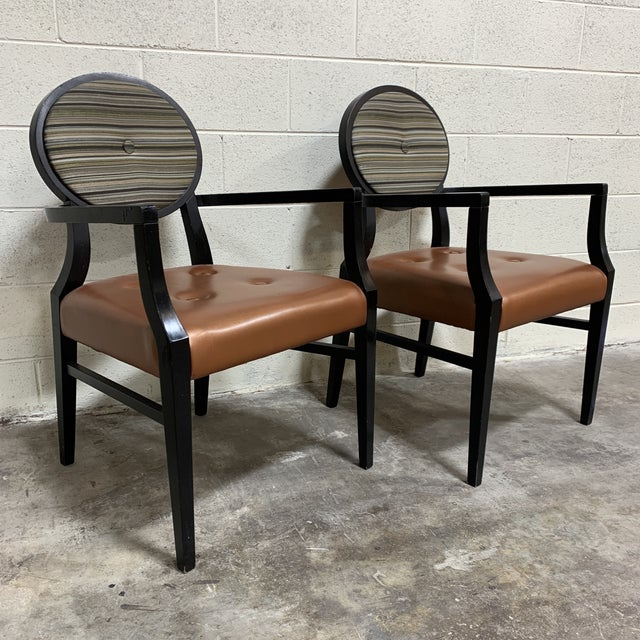 Art Deco Style Accent Arm Chairs - a Pair For Sale - Image 13 of 13