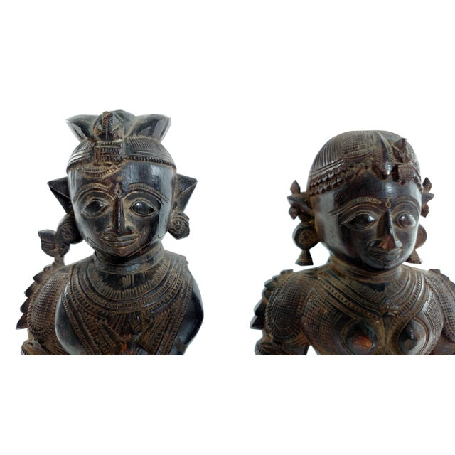 Antique Carved Indian Figures - A Pair - Image 7 of 7
