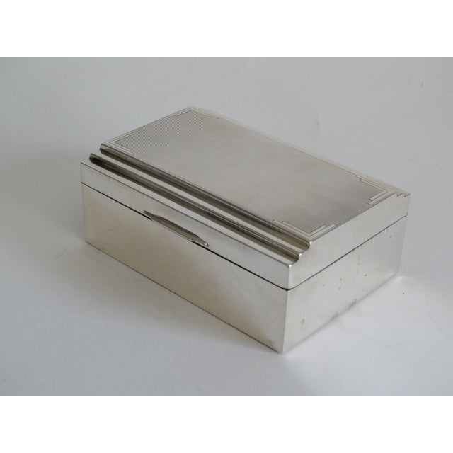 Art Deco Art Deco Sterling Silver Table Box For Sale - Image 3 of 10