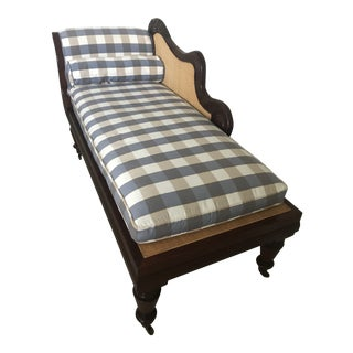 Henredon Mahogany Chaise Lounge For Sale