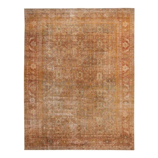 Early 20th Century Antique Mahal Wool Rug 9 X 11 For Sale