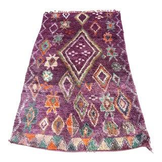 1970s Colorful Vintage Moroccan Wedding Blanket - 5′11″ × 10′7″