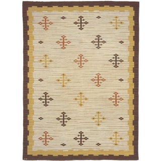 Early 20th Century Swedish Flat Weave Rug-8′2″ × 11′1″ For Sale
