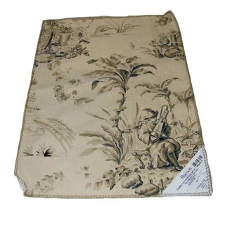 Vintage Pearson Home Dec Toile Fabric Sample For Sale