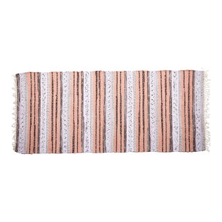 """New Handwoven Reversible Vintage Swedish Rug by Scandinavian Made 78"""" x 30"""" For Sale"""