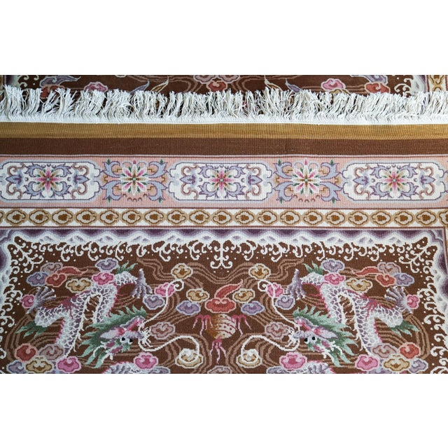 Chinese Hand Knotted Wool Dragon Rug - 6′ × 9′ For Sale - Image 5 of 10