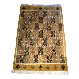 1960s Vintage Moroccan Handmade Rug - 5′5″ × 8′6″ For Sale
