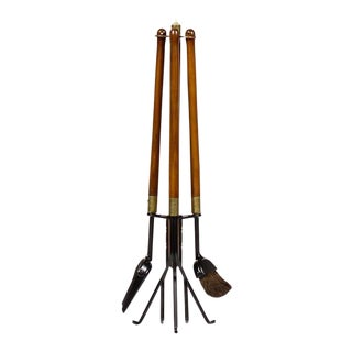 1960s Mid Century Modern Seymour Fireplace Tools - 4 Pieces For Sale