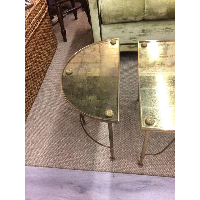 Vintage Oblong Gilded Coffee Table For Sale - Image 4 of 9