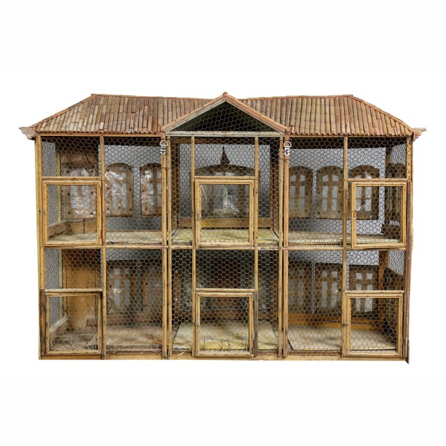 Wood Early Victorian Painted Birdcage For Sale - Image 7 of 8
