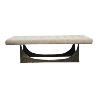 Paul Evans Sculpted Bronze Bench For Sale