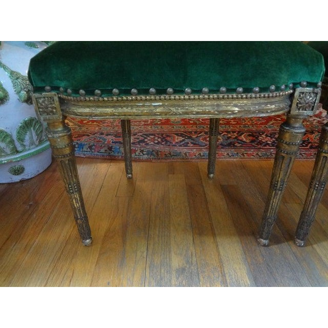 19th Century 19th Century French Louis XVI Style Giltwood Chairs - a Pair For Sale - Image 5 of 10