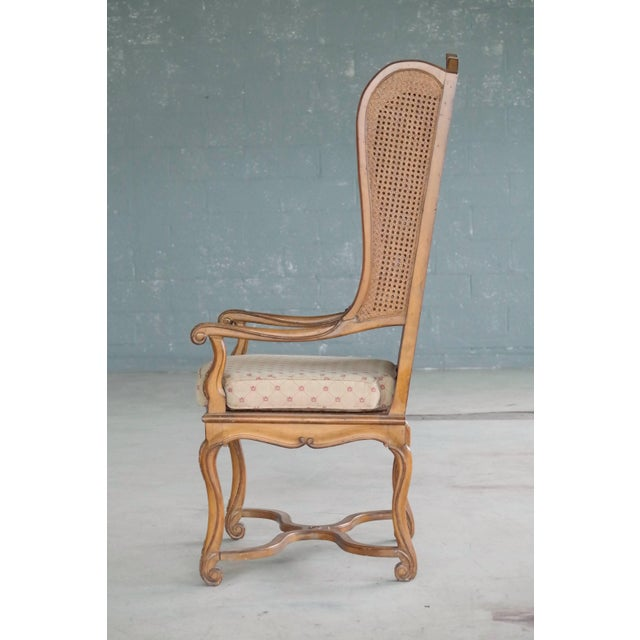Brown 1920s Hollywood Regency Cane Wingback Chair For Sale - Image 8 of 10