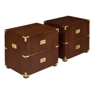 English Campaign Chest Side Tables - A Pair For Sale