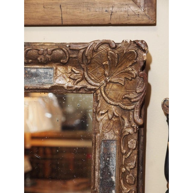 Mid 18th Century 18th Century French Gilded Parclose Mirror For Sale - Image 5 of 6