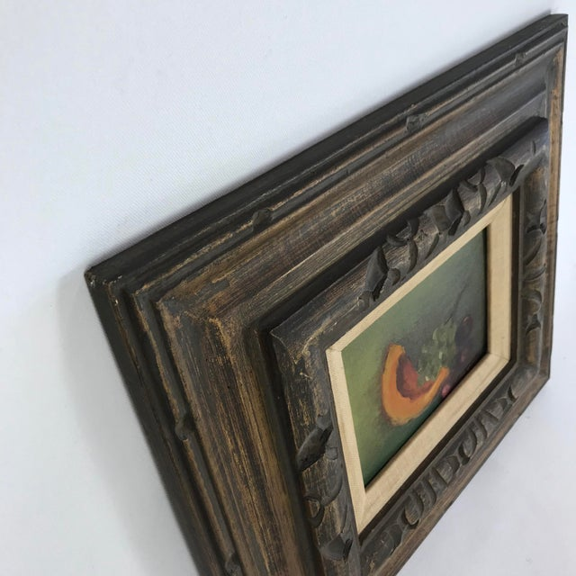 Country Vintage Mid-Century Framed Still Life with Fruit Painting For Sale - Image 3 of 10
