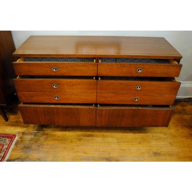 Mid Century Walnut Low Dresser by Basset 1960's For Sale In Boston - Image 6 of 10