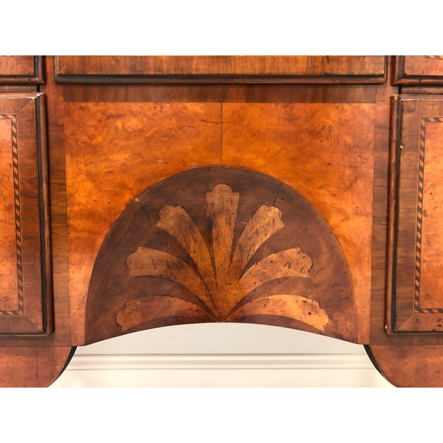Brown A Fine English Inlaid Burl Walnut Chippendale Lowboy Chests - a Pair For Sale - Image 8 of 13