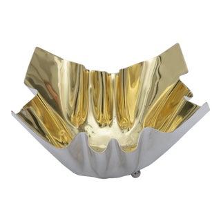 1970s Vintage Italian Gold-Wash Bowl For Sale