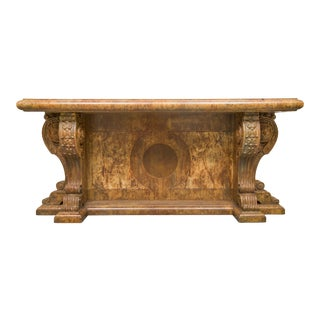 Stunning Faux Marble Italian Renaissance Style Console For Sale