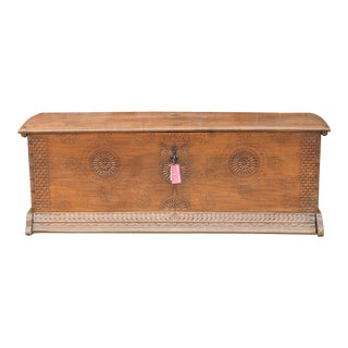Circa 1755 French Oak Storage Chest For Sale
