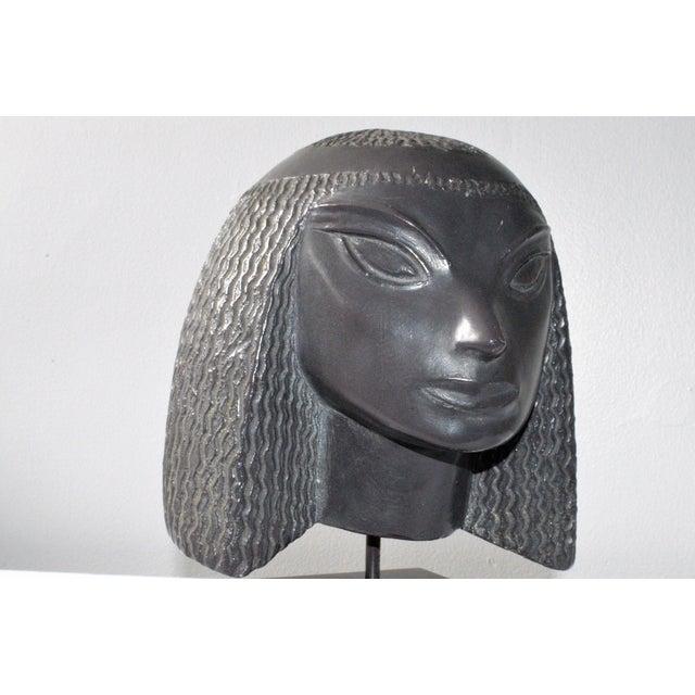 Vintage Fred Press Eygptian Female Sculpture - Image 10 of 10