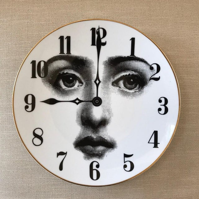 Rosenthal Fornasetti Clock Plate For Sale - Image 4 of 4