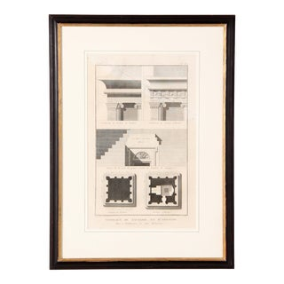 Antique 19th Century Framed Architectural Etching Print For Sale