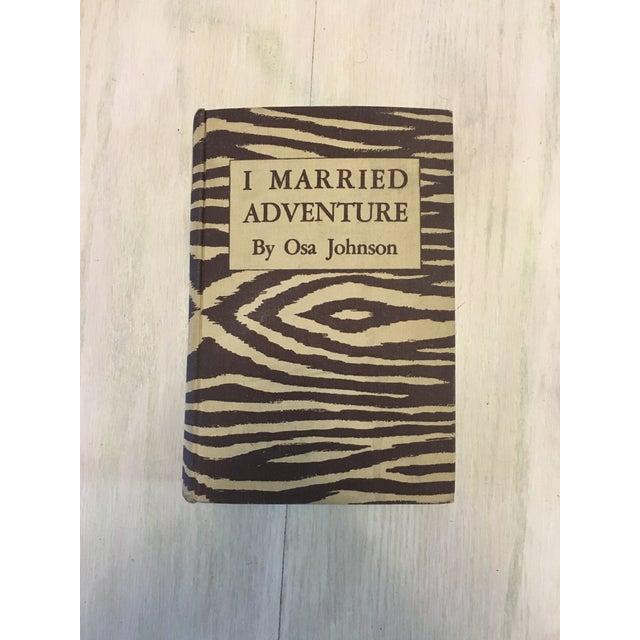 "Highly collectible 1940 edition of the book ""I Married Adventure"" written by Osa Johnson. Hardcover. Publisher Halcyon..."