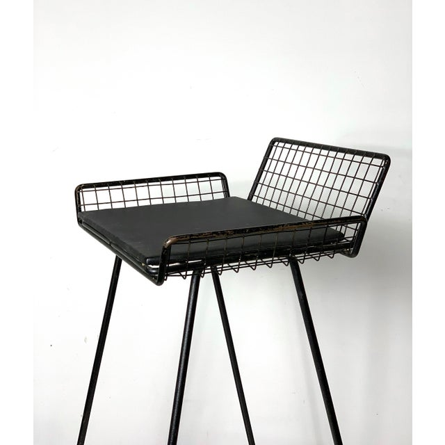 1960s Vintage Tony Paul Iron Wire Counter Bar Stool For Sale - Image 9 of 11