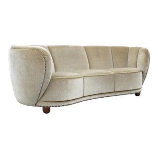 1930's Scandinavian Deco Mohair Sofa