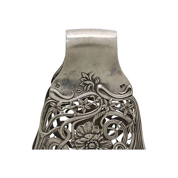 French Antique French Christofle Silver Asparagus Grip For Sale - Image 3 of 4