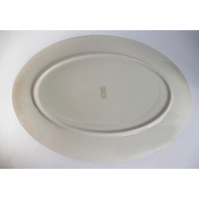 1950s 1950s Lenox China Wheat Pattern Platter For Sale - Image 5 of 6