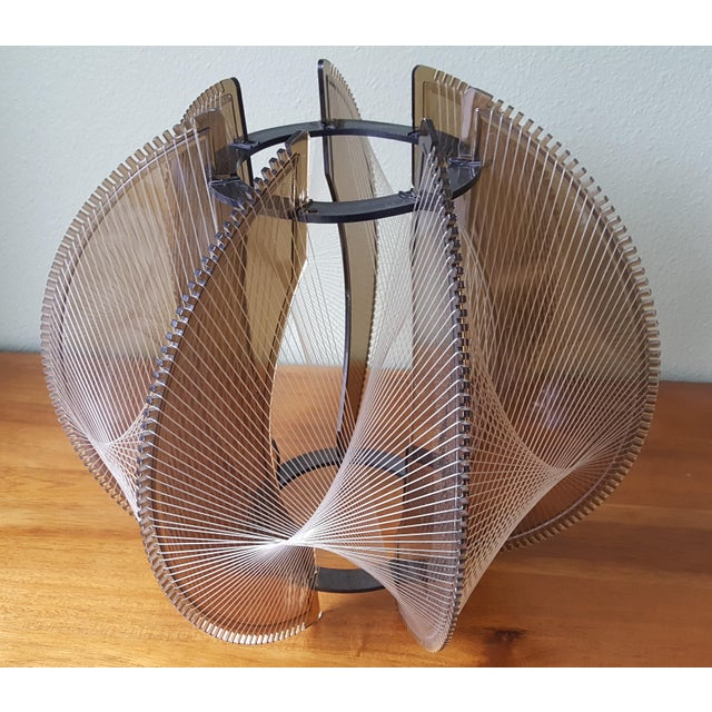 Vintage 60's Lucite String Swag Light For Sale - Image 10 of 12