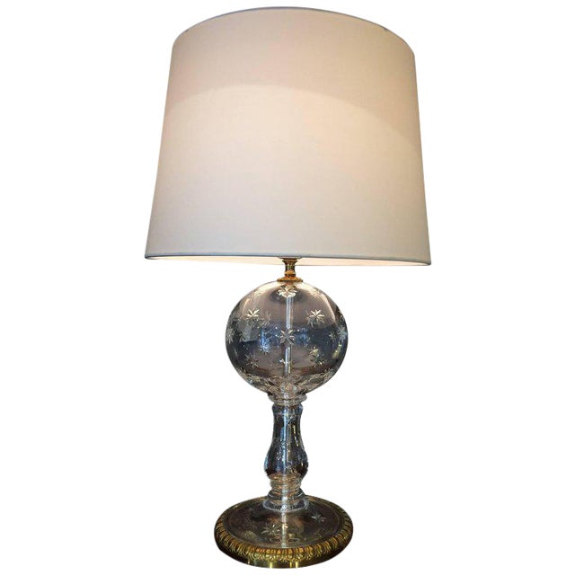 1950s traditional waterford crystal globe table lamp chairish 1950s traditional waterford crystal globe table lamp aloadofball Image collections