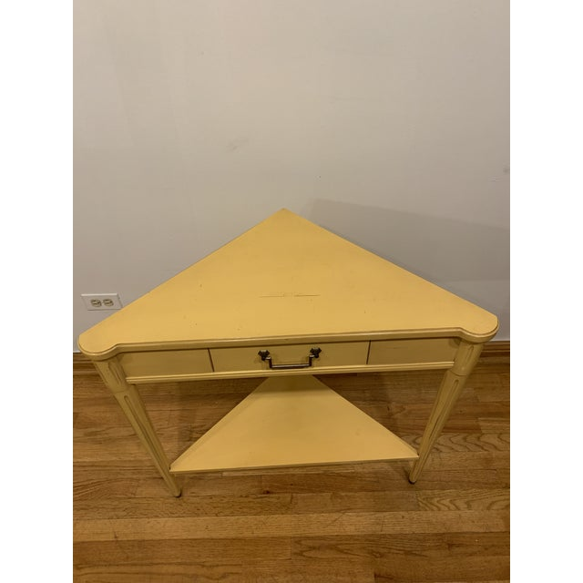 Yellow Traditional Grange Corner Table For Sale - Image 8 of 9