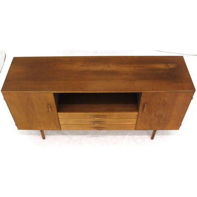 Mid-Century Modern Solid Birch Planner Group Mid-Century Modern Credenza by Paul McCobb For Sale - Image 3 of 10