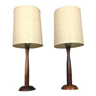 Danish Modern Teak Table Lamps - a Pair