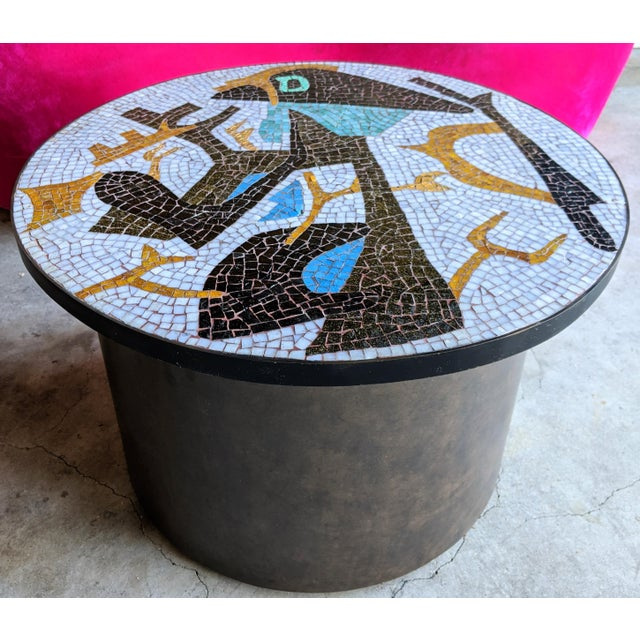 Artisan Midcentury Modern Mosaic Table For Sale - Image 13 of 13